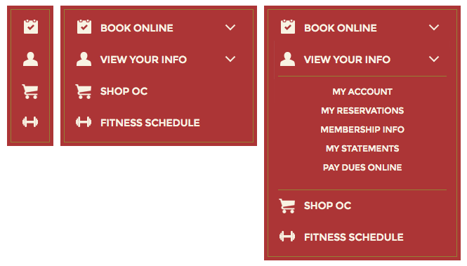 Olympic Club Utility Nav